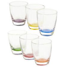 Lot de 6 couleur base verres à eau potable verres tasses d'eau jus table