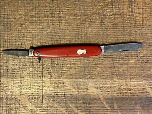vintage old red Solingen pretty knife made in Germany