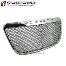 For 2011 2014 Chrysler 300 300c Chrome Luxury Mesh Front Bumper Grill Grille Abs Fits Chrysler 300