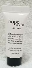 Philosophy HOPE IN JAR Oil Free Moisturizer Normal to Oily Skin .17 oz/5mL New