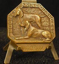 Médaille Société canine du sud-est par Fath 60g 49mm ANimal Chien Dog medal 铜牌