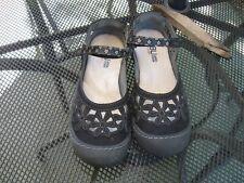 JBU by Jambu shoes, Black, size 7M, fabric/rubber sole & toe cap. Floral. $27.00