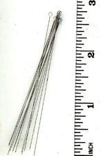 THREE DOZEN Beadsmith #16 Heavy Twisted Stainless Steel Flexible Wire Needles