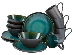 Iris Kaffeeservice 12 tlg Steinzeug für 4 Personen CreaTable