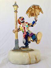 Emmett Kelly Clown Singing In The Rain Ron Lee Signed 24K Gold Ltd Ed 366/1500