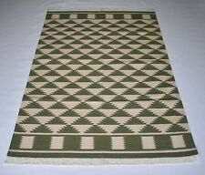 Handmade Diamond Cotton Kilim Area Rug Bedroom Carpet 4x6 Feet DN-1494