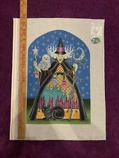 HandPainted Needlepoint Canvas Halloween Witch by Brenda Stroff on 18 mesh