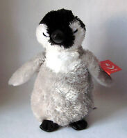 "Aurora Mini Flopsie BABY Emperor Penguin 8"" Stuffed Plush New 30537"