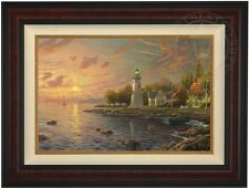 Thomas Kinkade Serenity Cove 18 x 27 LE Gallery Proof Canvas (Burl Frame)