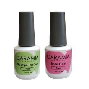 Caramia Soak-off gel Top & Base Duo