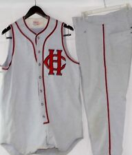 1950's/60's Hanover College Game Worn Baseball Flannel Jersey w/ 2 Pair of Pants
