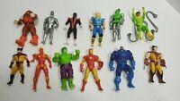 Marvel Toy Biz Action Figure Lot of 12 Hulk, Iron Man, Wolverine, Juggernaut