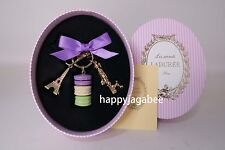 LADUREE Key Chain Macarons Effiel Tower Parisienne Cassis Violet For Gift New