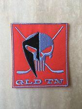 """GLD TN Hockey Patch Iron-On Embroidered - Sports Hockey Skull Patches 2.75"""" New"""
