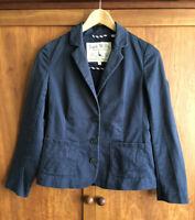 JACK WILLS Size 8 WOMEN'S NAVY BLUE COTTON JACKET Blazer Pockets Smart-Casual