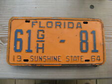 1964 64  FLORIDA FL LICENSE PLATE #61 G/H-81 FLAGER COUNTY NICE TAG