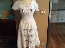 Star India cotton hobo embroidery dress size small