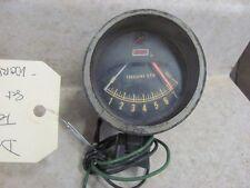 "Vintage Dixco 8000 RPM 8K Tachometer Tach w/ Visor Case 2 3/8"" Face Tested"