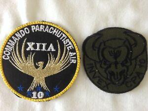 Lot patch écusson Commando Parachutiste de l'Air CPA 10 Afghanistan INVEX
