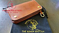 Samurai Attack Trucker Wallet Veg Tanned Leather THE FIGHTER Edition