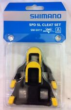 Shimano SM-SH11 SPD-SL Cleat Set YELLOW / BLACK Floating Float Mode inc. Bolts