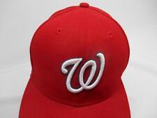 New Era WASHINGTON NATIONALS BASEBALL CAP Hat Advertising 59FIFTY Size 6 5/8