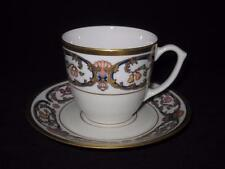 Cartier, Limoges, La Maison Du Prince, Gold & Blue w/ Fruit, Cup & Saucer Set