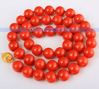 """17"""" Charming 9mm Genuine Red Coral Necklace 