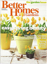 Better Homes and Gardens March 2013 Spring Baking/Lamb/Clutter Cures/Garden Issu