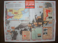 IMAGES OF WAR WWII CAMPAIGN MAP BOMBING OF JAPAN APRIL 1942 TO AUGUST 1945