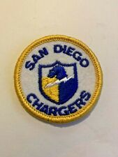 "Vintage San Diego Chargers Patch Football New 2"" 1970's embroidered shield NFL"