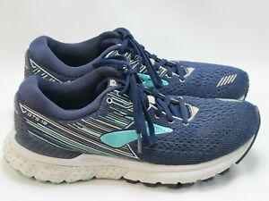Brooks Adrenaline GTS 19 Running Shoes Women's Size 9 B US Excellent Plus Navy