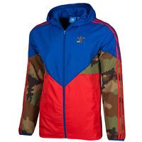 Adidas Originals Camo Men's Hooded Windbreaker Jacket Hip-Hop Style Adicolor S