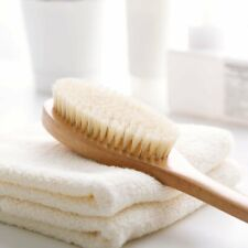 Natural Bristle Handle Wooden Bath Back Dry Skin Brush Spa Scrubber Shower Body