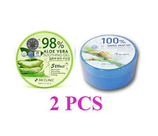 Dodo 3W Clinic 98%  Aloe Vera, 100% Snail mucus Soothing Gel 300g + 300g Korean