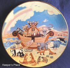 Noah's Ark The Rainbow Of Promise Linda Undernehr Porcelain Collector Plate