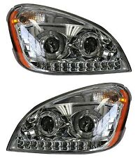 Freightliner Cascadia Projector Headlight with LED Stripe Pair 2008-2017 LH+RH