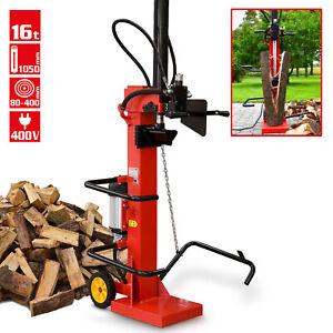 Holzspalter Brennholzspalter Spalter Hecht Kaminholzspalter stehend Elektro 16 T