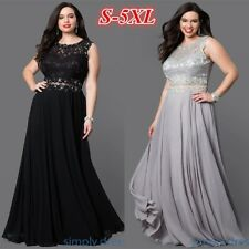 Womans Plus Size Lace Long Formal Wedding Dress Mother of Bride Dress Ball Gowns