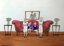 FOUR SISTERS PHOTOGRAPH; OOPS (MIRROR SHOWING PHOTOGRAPHER) OIL PAINTING