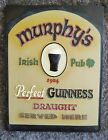 Vintage Murphy's Irish pub 1907 Perfect Guinness Draught Served Here beer sign
