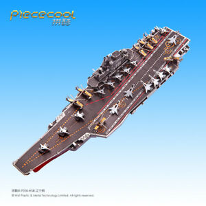 Battleship Liao Ning CV-16 3D Metal Puzzle Model Kits Assemble Jigsaw Toys