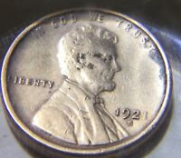 1921-S LINCOLN WHEAT CENT. FINE. BOLD DATE -Price Reduced