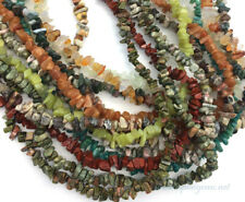 SALE Natural Semi Precious Stone 36in Long Chip beads Necklace +Pick Colors