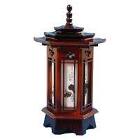 Lampe en bois sculpté hexagonale Art déco lanterne marron table chevet lumière