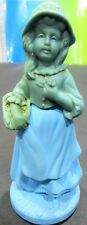 Avon Girl Blue Cologne Bottle Figurine