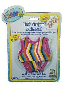 Ganz Webkinz Pink Striped Swimsuit