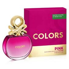 UNITED COLORS OF BENETTON PINK FOR HER EDT FOR WOMAN FLORIENTAL FRAGRANCE- 80 ML