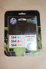 HP 564 INK Combo 3 Pack Cyan Magenta Yellow May 2015 Sealed in Box