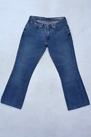 LEVIS 529 VTG Faded Ladies Bootcut Blue Denim Stretch Jeans Red Tab W30 L29 Uk12